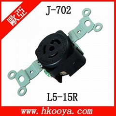 NEMA L5-15R Locking Connector