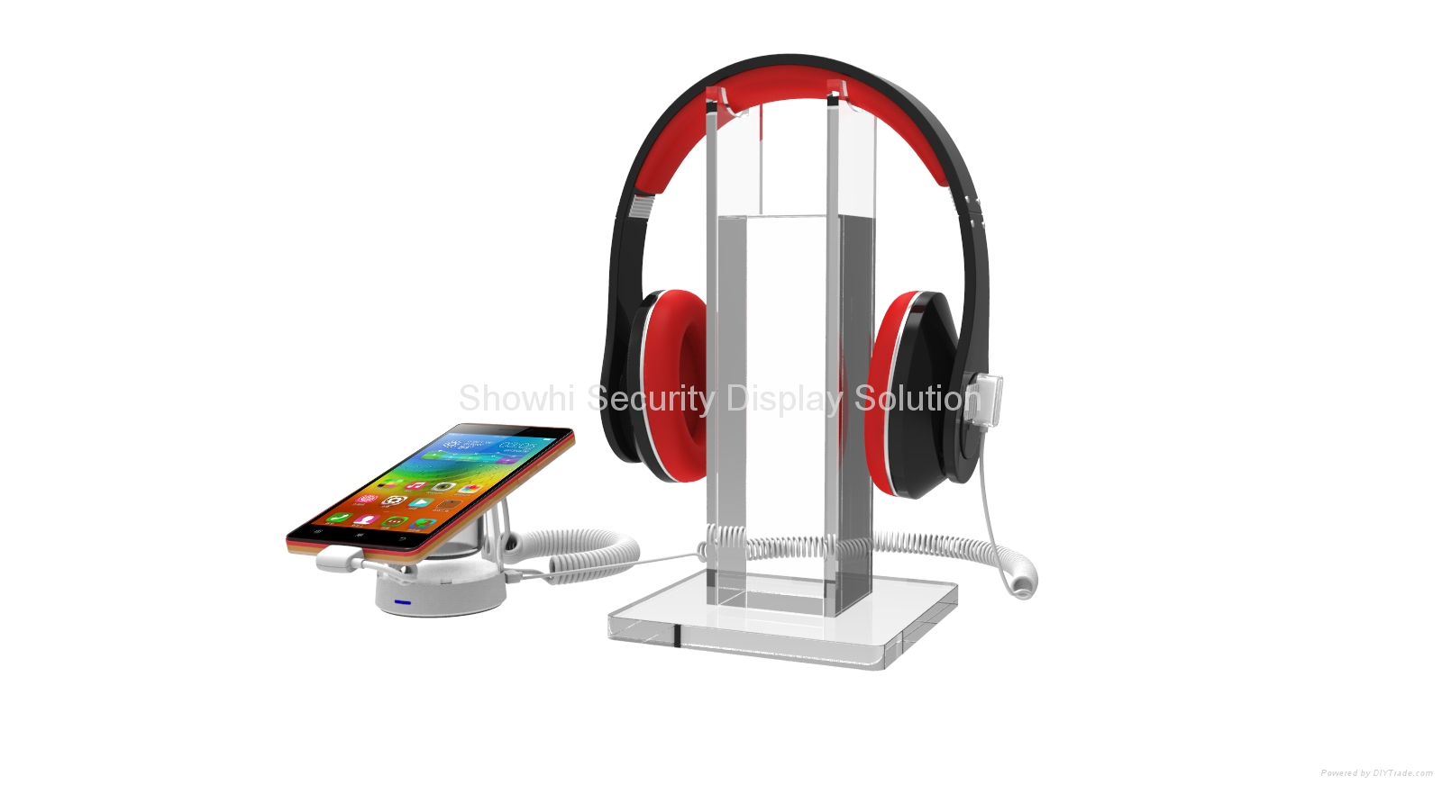 Showhi security display stand for cell phone and accesory charge alarm function  3