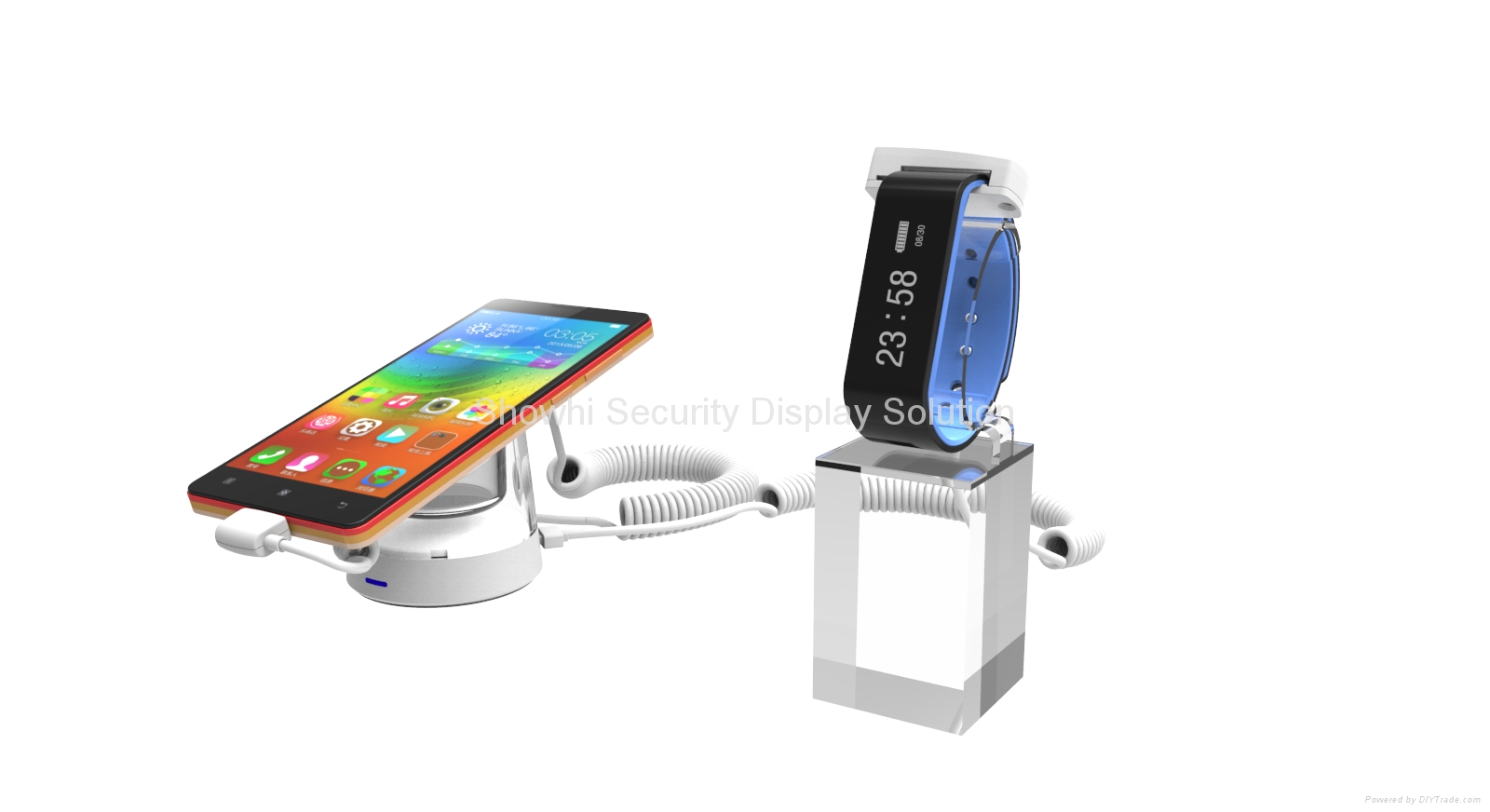 Showhi security display stand for cell phone and accesory charge alarm function  4