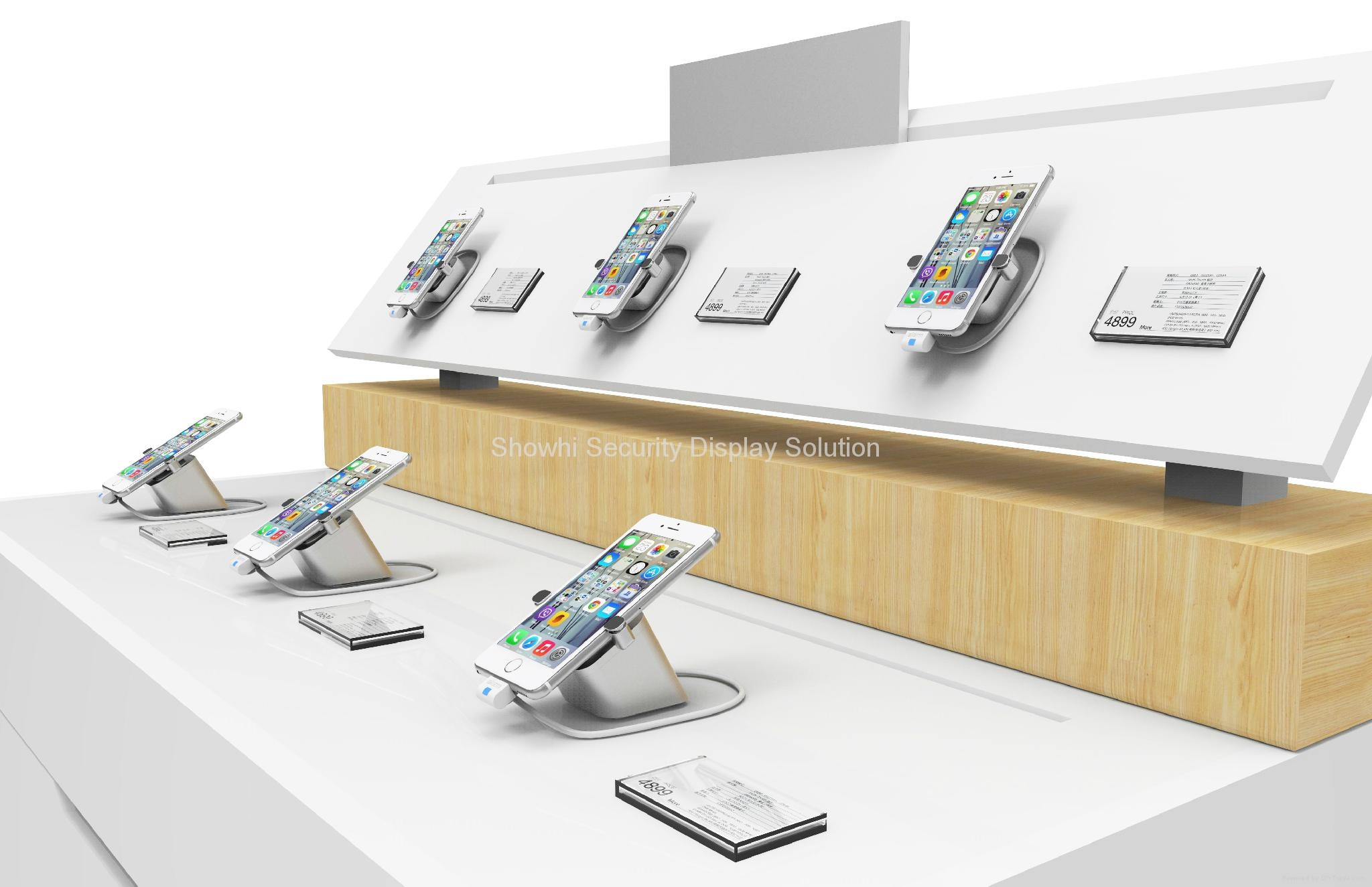 New all in one phone display security stand for wall mounting MAX 4