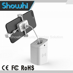 Retractable cellphone display security stand for exhibitions BOX