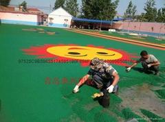 幼儿園塑膠地面