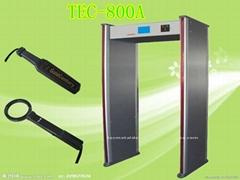 High Sensitivity Security Alarm Door Walk Through Detector TEC-800A
