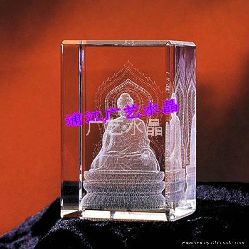 水晶內雕工藝品 2