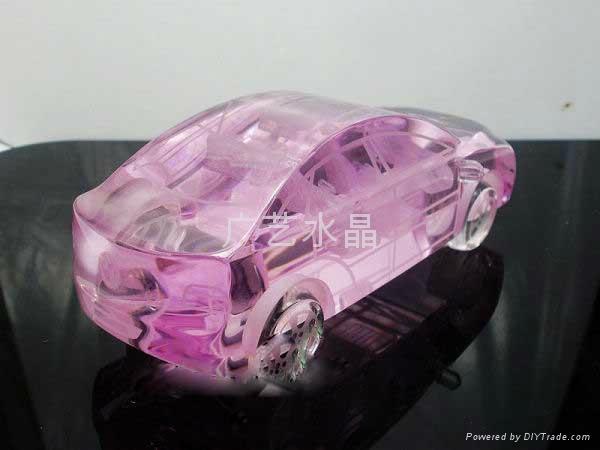 水晶汽車模型 1