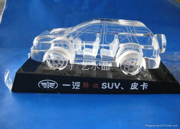 水晶汽車模型 2