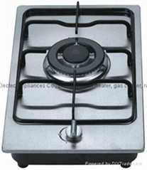 Gas Hob with 1 Burner and 220V Ignition,Front Knob Control (GH-S301E)