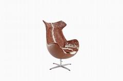 頭層牛皮外貿休閑椅TY-403