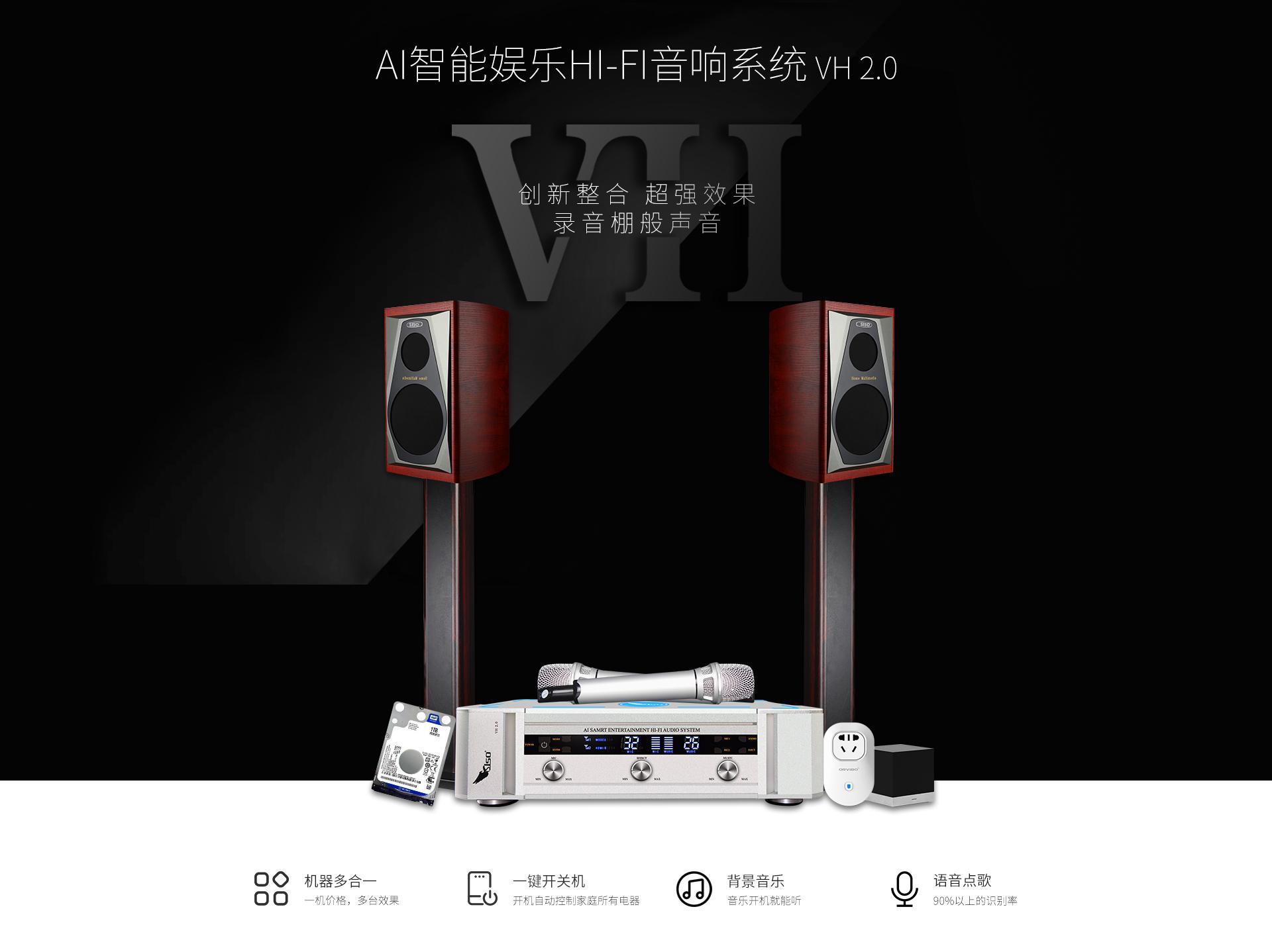 SISO音响卡拉OK设备扩音系统家庭套装影院 4