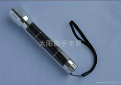 太陽能鋁合金手電筒