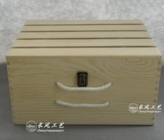六支木製酒箱