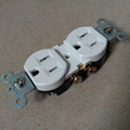 American standard socket,Duplex Receptacle, NEMA5-15 wall switch socket UL 1