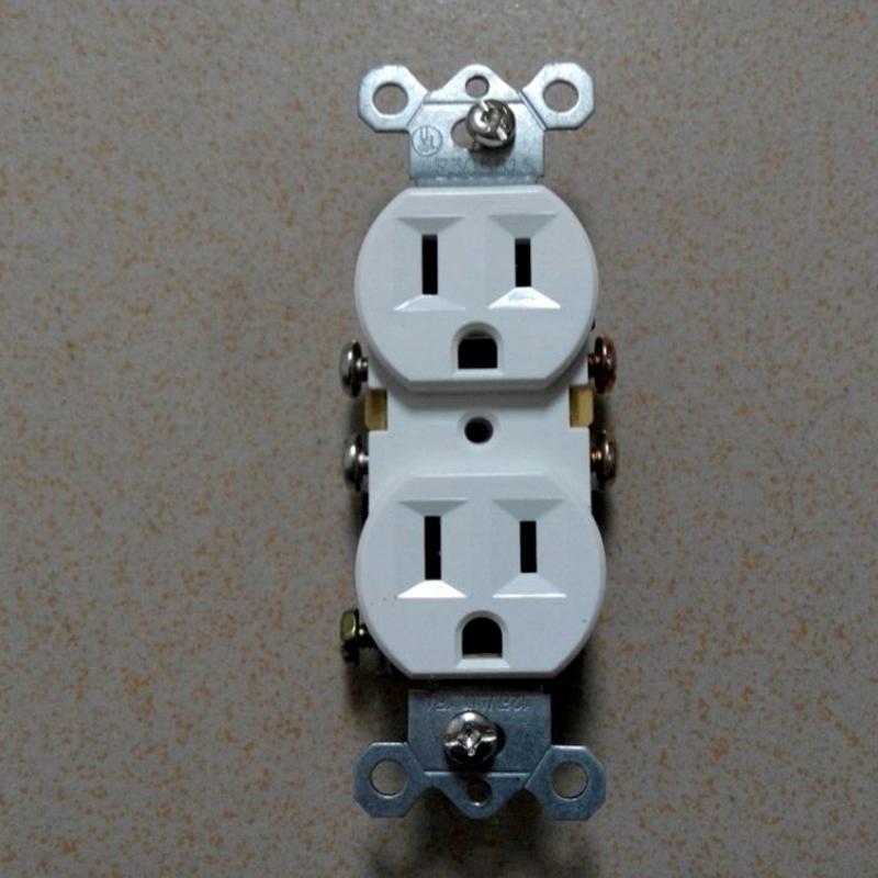 American standard socket,Duplex Receptacle, NEMA5-15 wall switch socket UL 2