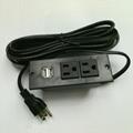 美式接線排插嵌入式USB充電板2位美標延長插板桌面插座 3