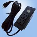 美式接線排插嵌入式USB充電板2位美標延長插板桌面插座 1