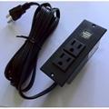 美式接線排插嵌入式USB充電板2位美標延長插板桌面插座 5