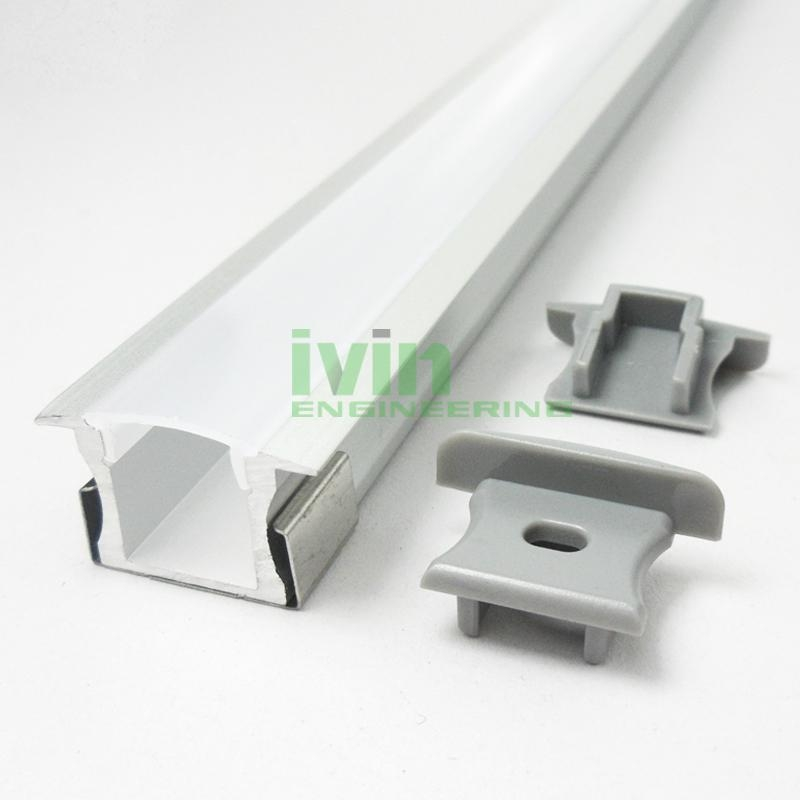 aluminium led profile,recessed aluminium profile,recessed furniture light, 2