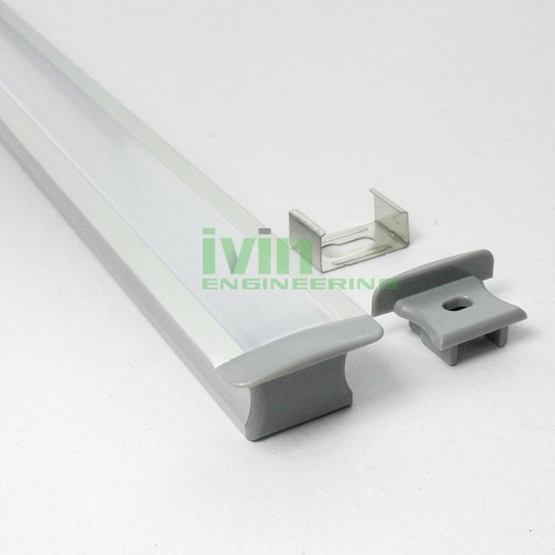 aluminium led profile,recessed aluminium profile,recessed furniture light, 3