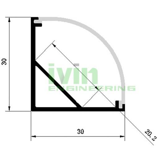 Commercial LED light housing , LED Aluminum profile  2