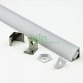 Extruded U shape aluminum profile for led strip light heat sink  3