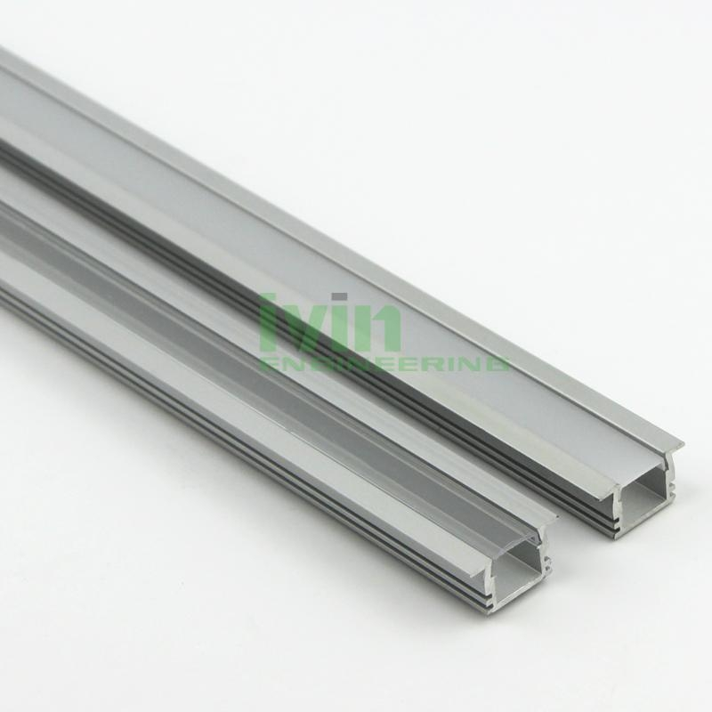 Aluminium Channel for LED Flexible Strips - Flat Recessed 2