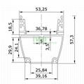 AWH-5753B 36W LED washwall light profile LED washwall light aluminum heatsink 2