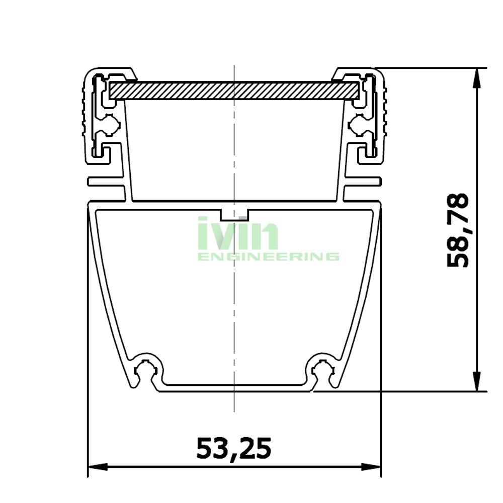 AWH-5753B 36W LED washwall light casing, LED wall wash light heatsink housing.  2