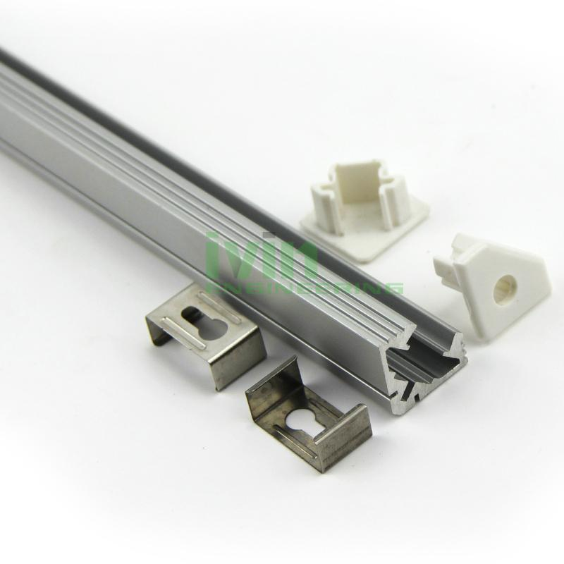 led light alu bar, led corner profile for wall solution,90° led aluminum profile 6