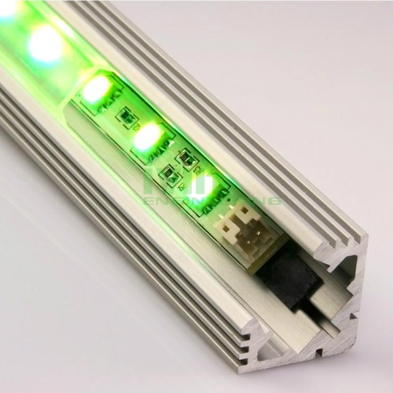 led light alu bar, led corner profile for wall solution,90° led aluminum profile 7