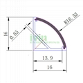 Extruded U shape aluminum profile for led strip light heat sink  4