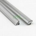 Extruded U shape aluminum profile for