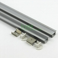Aluminum led profile, frosted PC cover, PC diffuser, SUS304 stainss steel clips. 3