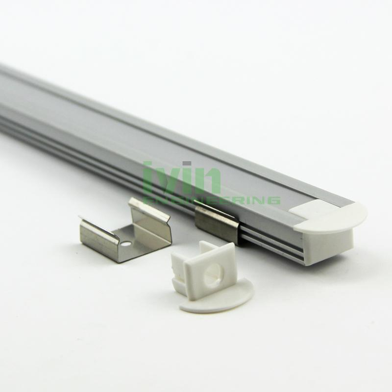 Aluminum led profile, frosted PC cover, PC diffuser, SUS304 stainss steel clips. 1