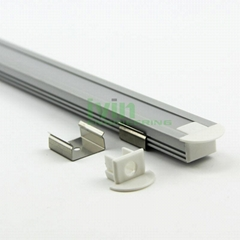 Aluminum led profile, frosted PC cover, PC diffuser, SUS304 stainss steel clips.