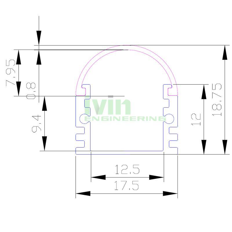 LED aluminum channel,LED Profiles Extrusions, led lens profile. 2