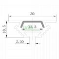 AB-3011 LED corner profile, LED wall corner light housing, 90° Corner light bar 2