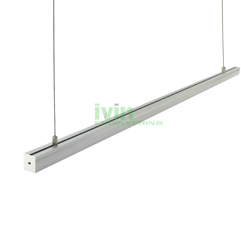 ad 2325 led hanging linear light kit led suspended light bar profiles. Black Bedroom Furniture Sets. Home Design Ideas