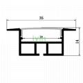 AZ-3515 LED recessed light linear aluminum profiles, LED recessed light housing.