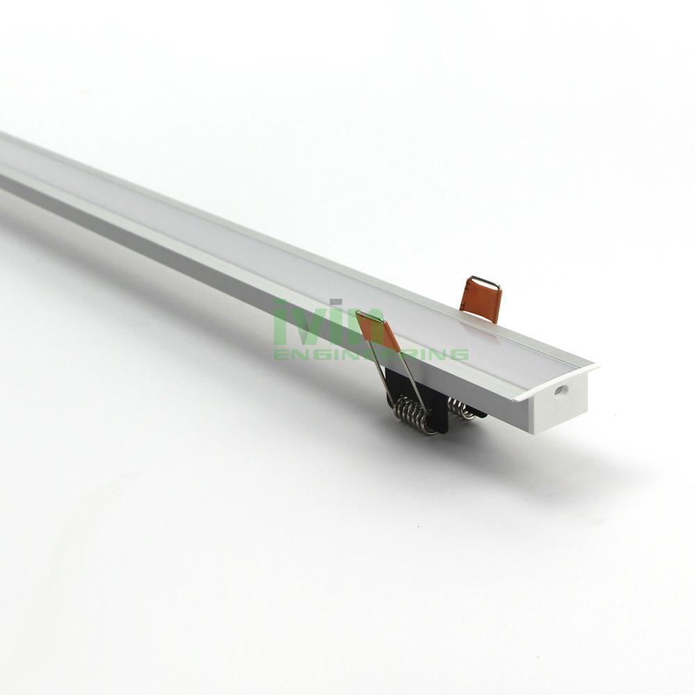 AZ-3515 LED recessed light linear aluminum profiles, LED recessed light housing. 3
