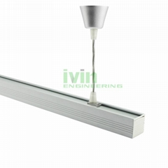 DG-3838 LED drop light heat sink, LED commercial linear pendant light housing.