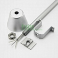 DG-3838 LED drop light heat sink, LED commercial linear pendant light housing.