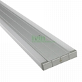 D-1580 LED wall mount light housing, LED double strips wall linear light housing