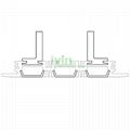 AZ-8010  recessed led wall ligiht housing, Ceiling LED recessed light heatsink .