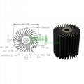 LED modular heat sink, LED module heat sink, LED heatsink module.  1