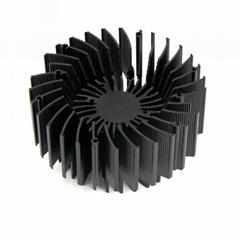 10W LED heatsink, LED aluminum heatsink, LED heat sink CNC machining.