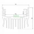120W grow light heatsink, LED hortocultur ligth housing.  5