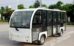 鄭州全封閉電瓶觀光遊覽車電動公交車小巴營運車