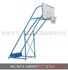 加铁轮移动炮式篮球架