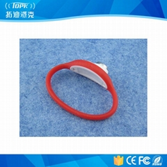 Swimming pool passive rfid id wristband with engraved printing