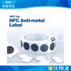 Popular ISO14443A Ntag213 NFC Anti-Metal Adhesive Label